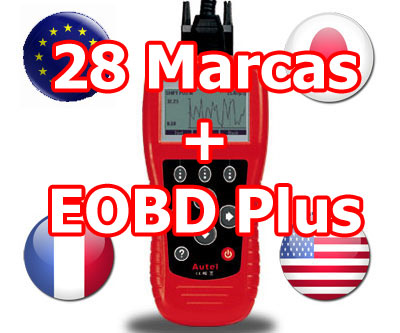 ESCANER PROFESIONAL DIAGNOSIS AUTOMOVILES 28 MARCAS + EOBD PLUS