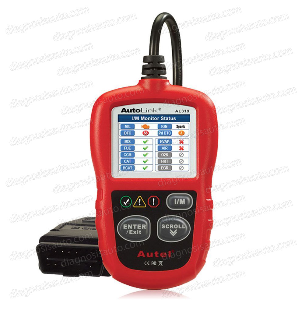 ESCANER DIAGNOSIS MULTIMARCA OBDII AUTEL AL319