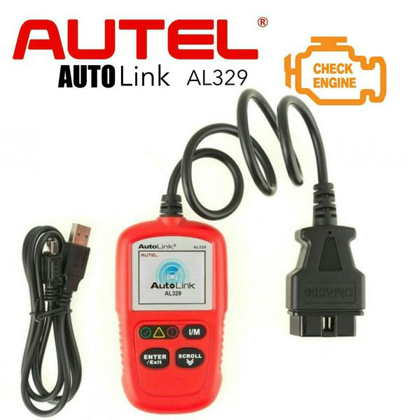 ESCANER DIAGNOSIS MULTIMARCA OBDII AUTEL AL329