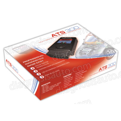 DIAGNOSIS MULTIMARCA ATS300 MULTIPLEXADOR PARA PC + CABLES OBD