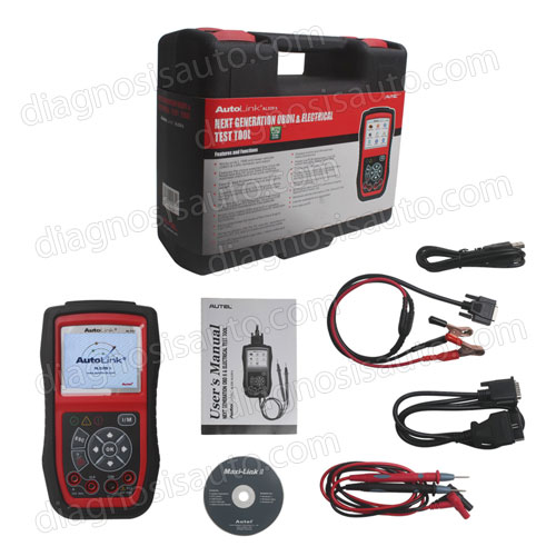 ESCANER DIAGNOSIS MULTIMARCA OBDII CON MULTIMETRO AUTEL AL539B + TEST BATERIA Y ARRANQUE