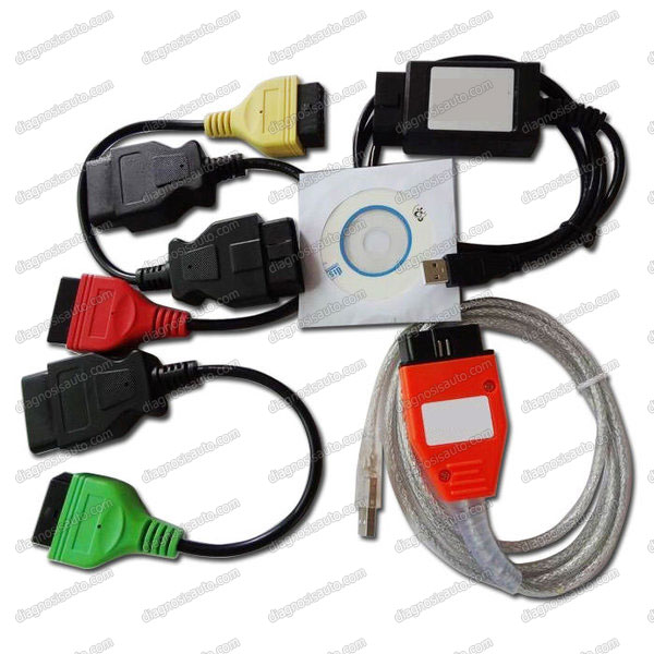 DIAGNOSIS COCHES ALFA ROMEO, FIAT Y LANCIA USB K+CAN + ADAPTADORES