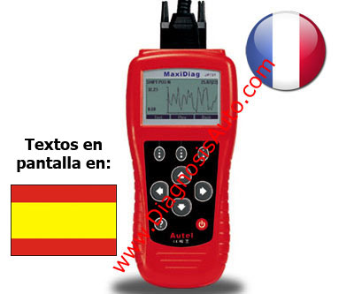 ESCANER PROFESIONAL DIAGNOSIS 704 CAN EOBD + FRANCESES ESPAÑOL