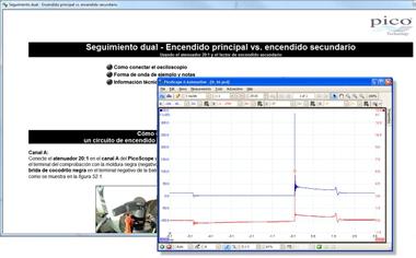 pantalla osciloscopio